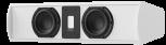 Piega Premium Center Small Gehäuse weiss lackiert RAL 9016 - Abdeckung Stoff weiss